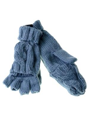 Перчатки-рукавицы голубые | 5254036