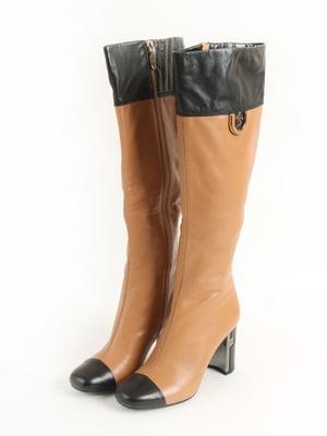 Сапоги черно-коричневого цвета | 5253531
