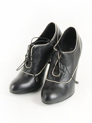 Туфлі чорно-білі | 5253588