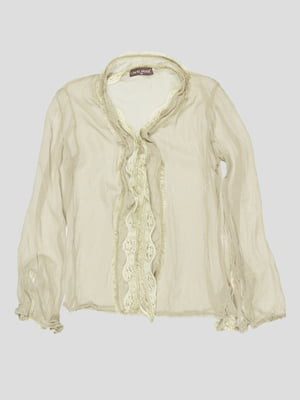 Блуза цвета светлого хаки   2913304