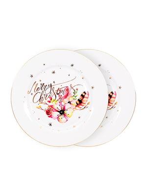 Набір тарілок (2 шт.) «Різдвяний олень» (26 см) | 5254478