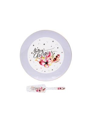 Блюдо для торта з лопаткою «Різдвяний олень» (27 см) | 5254479