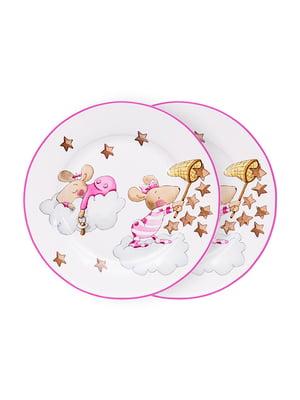 Набір тарілок (2 шт.) «Дівчинка-мишка» (19 см) | 5254497