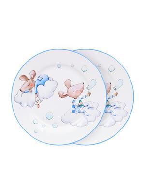 Набір тарілок (2 шт.) «Хлопчик-мишка» (19 см) | 5254498