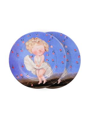 Набір тарілок (2 шт.) «Мерилін Монро» (19 см) | 5254506