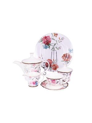 Чайний набір «Камелія» (15 предметів) і блюдо скляне   5254540