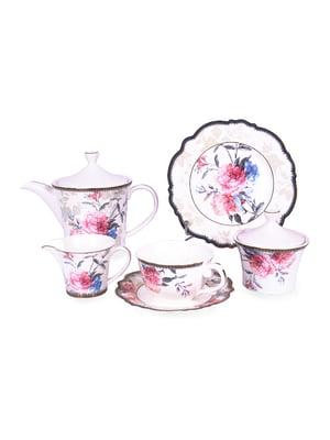 Чайний набір «Камелія» (15 предметів) і набір тарілок (6 шт)   5254542