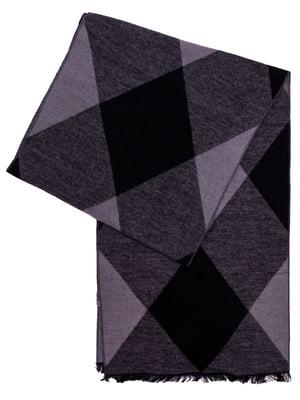 Шарф чорно-сірий | 5255370