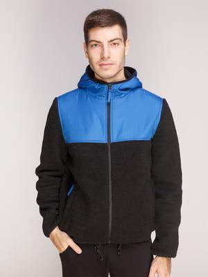 Куртка черно-голубая | 5241222