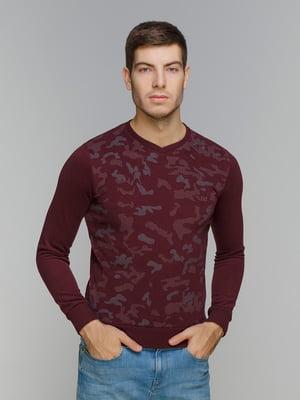 Пуловер бордовый | 5241050