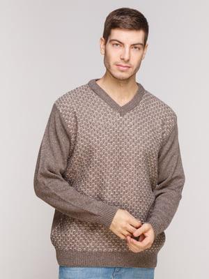 Пуловер кофейного цвета | 5241092
