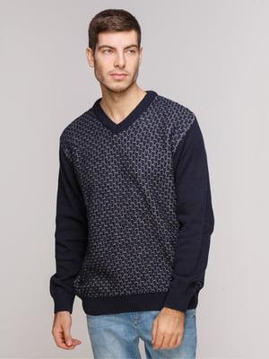 Пуловер темно-синий | 5241096
