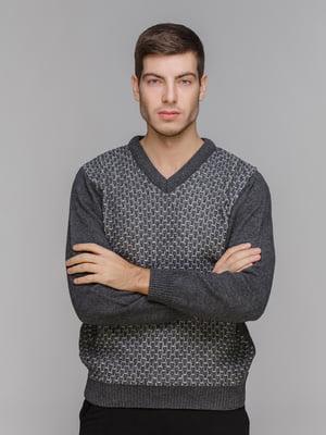Пуловер темно-серый | 5241097