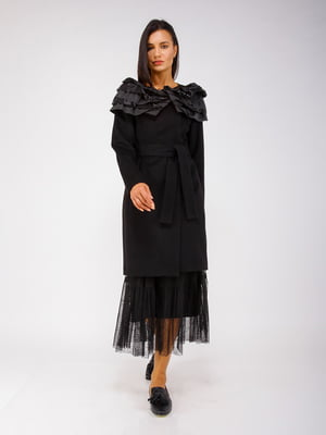 Пальто черное - CORRERA - 5256780