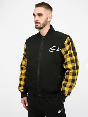 Куртка спортивна чорна | 5257253