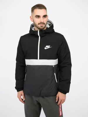 Куртка спортивна чорна | 5257255