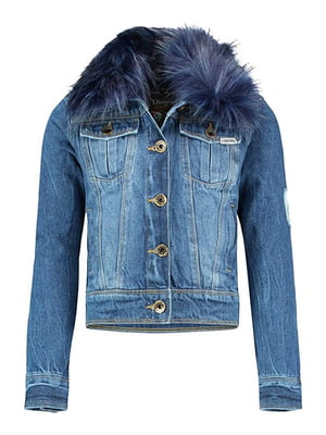 Куртка синя джинсова | 5257613