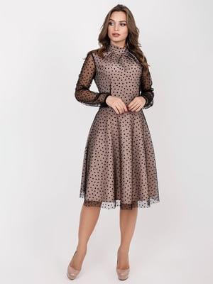 Платье бежевое | 5257904