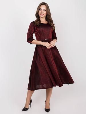Платье бордовое | 5257911