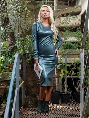 Платье серебристо-зеленое - Satin - 5258361