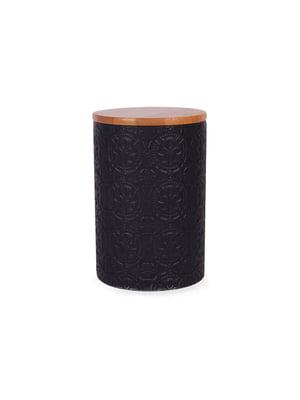 Банка для сипких з бамбуковою кришкою (10х10х15 см)   5197651