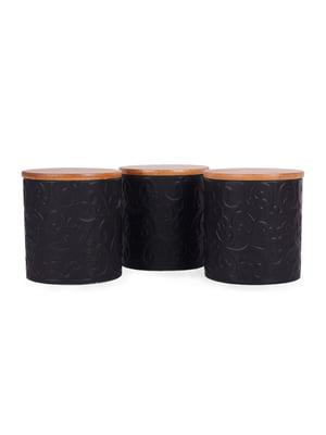 Набір банок для сипких з бамбуковою кришкою (3 шт., 10х10х11 см)   5197654