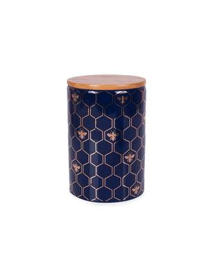 Банка для сипких з бамбуковою кришкою (10х10х15 см) | 5197656
