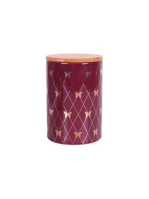 Банка для сипких з бамбуковою кришкою (10х10х15 см) | 5197657