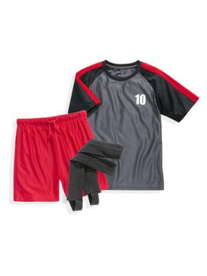 Костюм: футболка, шорты и гетры | 5261655