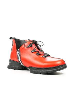 Ботинки красно-черные | 5257893