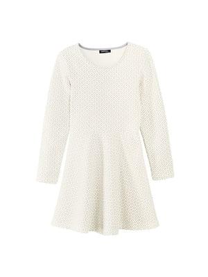 Сукня молочного кольору у візерунок | 5264167