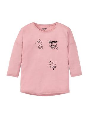 Лонгслів рожевий | 5264186
