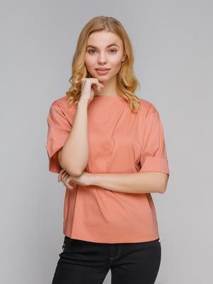 Блуза коралловая - Satin - 5258327