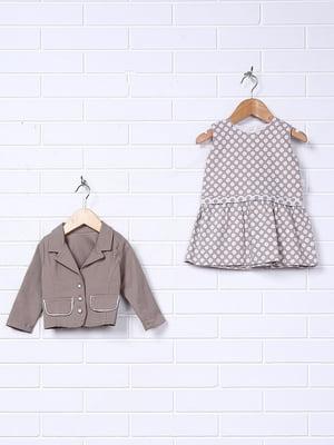 Комплект: сукня в горошок з жакетом | 5265553