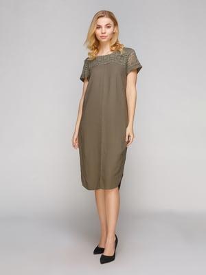 Сукня оливкового кольору | 5263881