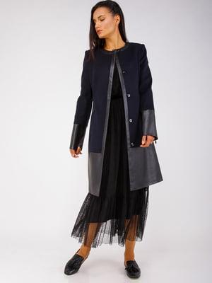 Пальто темно-синее - CORRERA - 5256794
