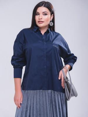 Блуза синяя - Satin - 5267272