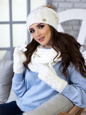 Комплект: шапка, шарф-снуд и перчатки | 5270789