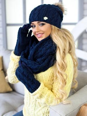 Комплект: шапка, шарф-снуд и перчатки | 5270790