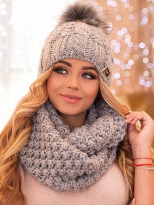 Комплект: шапка та шарф-снуд | 5270871