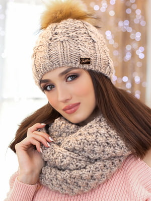 Комплект: шапка и шарф-снуд | 5270872