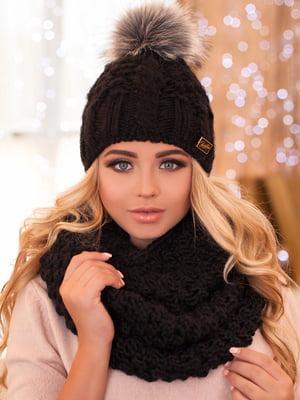 Комплект: шапка та шарф-снуд | 5270873