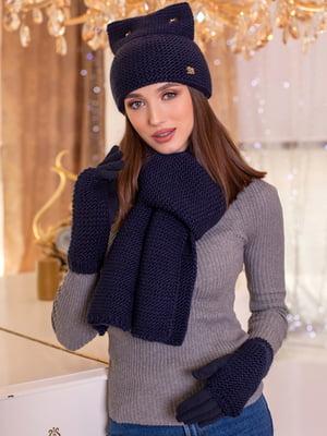 Комплект: шапка, шарф и перчатки | 5270880