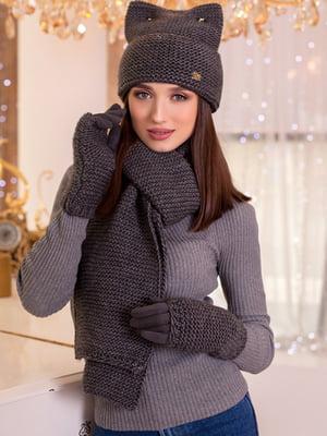 Комплект: шапка, шарф и перчатки | 5270881