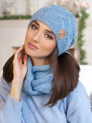 Комплект: шапка та шарф-снуд | 5270891
