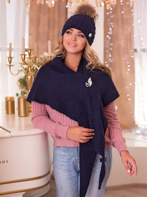 Комплект: шапка и шарф-бактус | 5270914