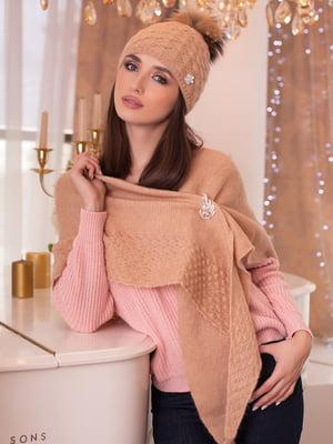 Комплект: шапка и шарф-бактус | 5270915