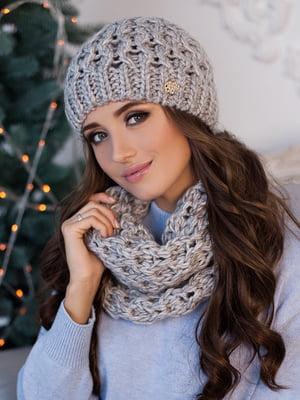 Комплект: шапка та шарф-хомут | 5270948