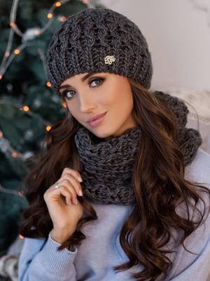 Комплект: шапка и шарф-хомут | 5270949