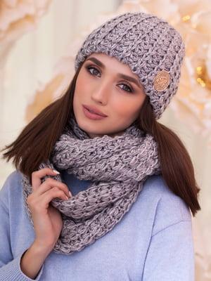Комплект: шапка та шарф-снуд | 5270974